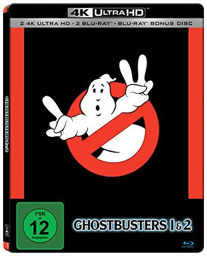 Ghostbusters 1 & 2 (Doppelset) 4K Limited Steelbook Edition (2 x UHD, 3 x Blu-ray) für 24,36€ (Amazon Prime & Media Markt Abholung)