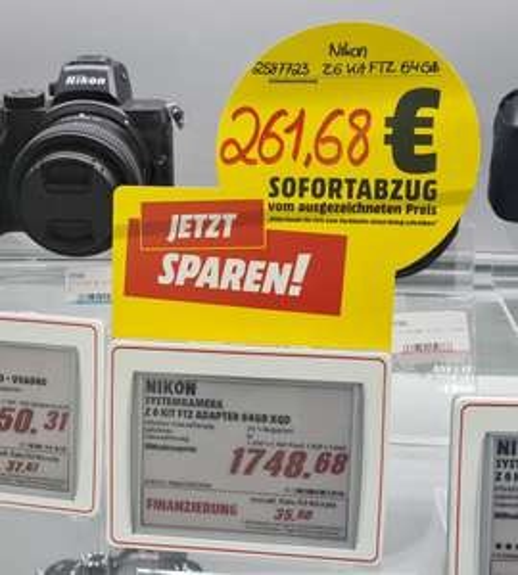 [Lokal Karlsruhe] Nikon Z6 + FTZ-Adapter + 64GB XQD für 1.487 Euro
