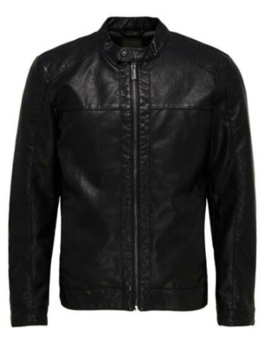 30% extra Rabatt auf Jacken ab 43€ MBW, z.B. Only & Sons ONSMIKE Bikerjacke aus Lederimitat