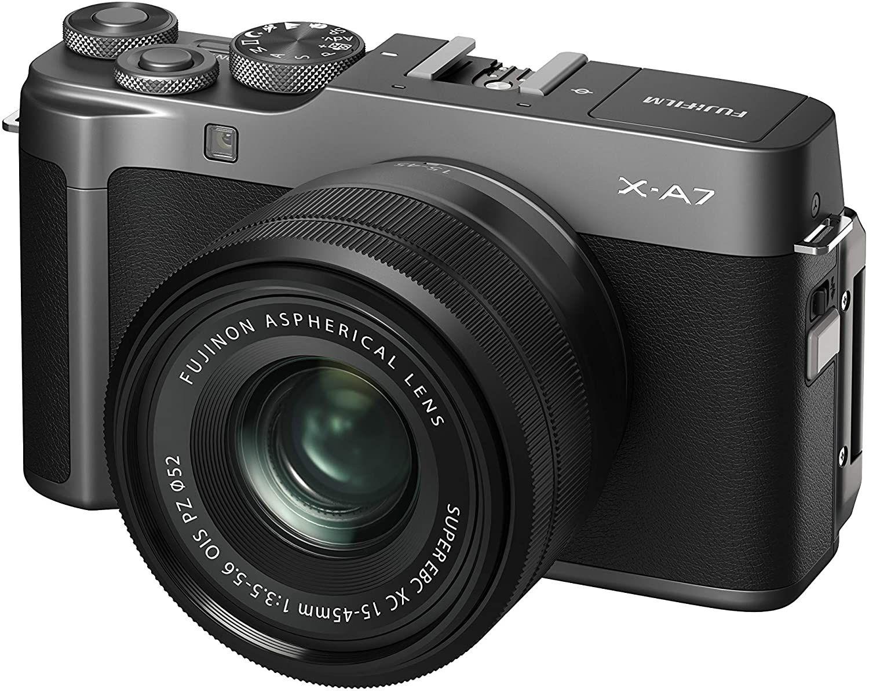 Fujifilm X-A7 Systemkamera (24,2 Megapixel) inkl. XC 15-45mm F3.5-5.6 OIS PZ Objektiv - dunkelsilber