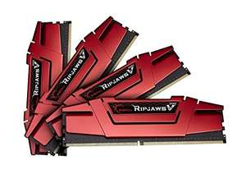 G.Skill RipJaws V rot DIMM Kit 32GB, DDR4-3200, CL14-14-14-34 Quad Kit