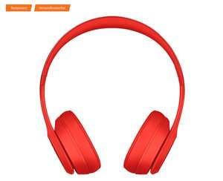 [Saturn] 120 Minuten Deal - Beats Solo 3 Wireless, On-ear Kopfhörer Rot
