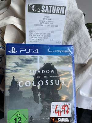 [Lokal Düsseldorf] Saturn Düsseldorf in Flingern - PS4 Spiele Angebot z.B. Shadow of the Colossus