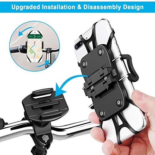 Blitzangebot Prime OMERIL Handyhalterung Fahrrad SCHNELL ABNEHMBARE 360° Drehbare Roller Handyhalterung Universal für Handy / Smartphone