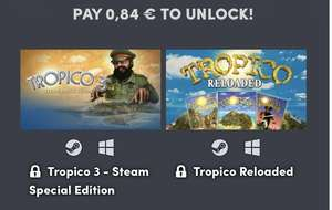 HUMBLE TOTALLY TROPICO BUNDLE (Steam) ab 0,84