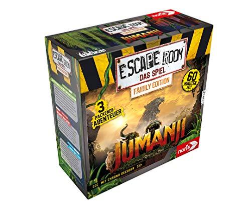 Noris-Escape Room Jumanji (Family Edition) Gesellschaftsspiel für Erwachsene inkl. 3 Fällen für 24,81€ (Amazon Prime & Media Markt Abholung)