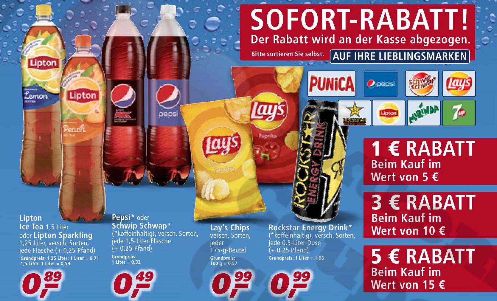 (REAL) Pepsi / Schwip Schwap 1,5 Liter für 49 Cent / bei Kauf von 31 Flaschen nur noch 33 Cent/Flasche