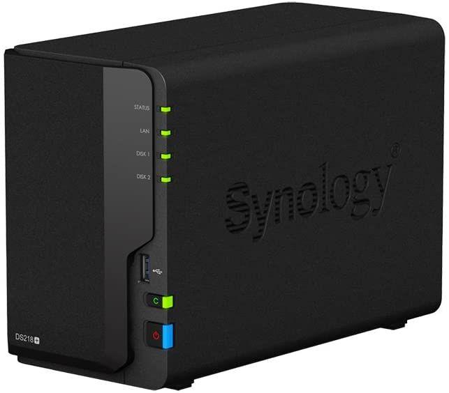 Synology DS218+ DiskStation NAS-Server 2-Bay Desktop Server 6TB (2x 3TB Best Choice HDD)