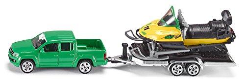 SIKU, Pick-Up mit Anhänger und Snowmobil, 1:55, Metall/Kunststoff, Kippbarer Anhänger für 10,85€ (Amazon Prime & Saturn Abholung)