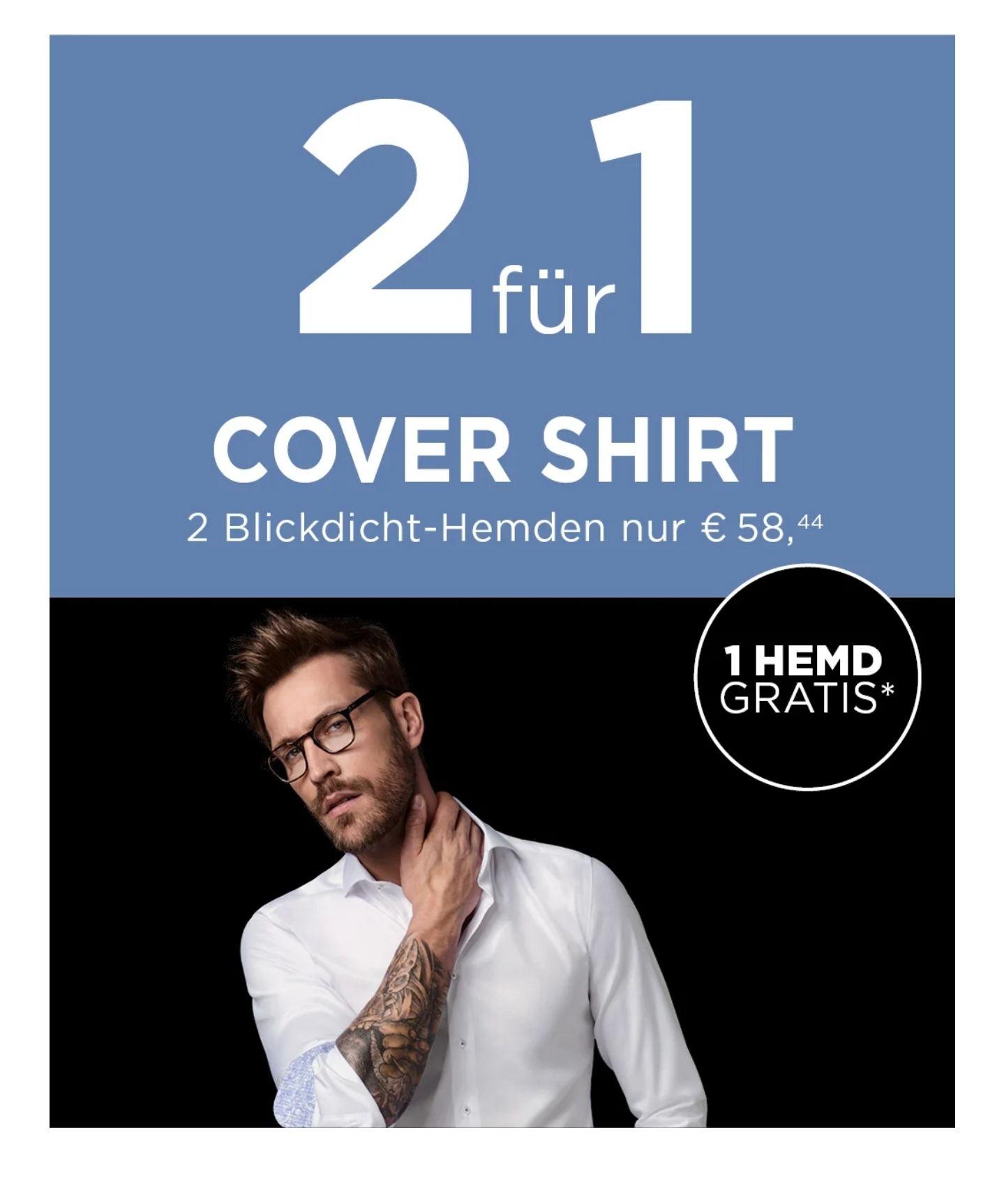 Eterna Cover Shirt - 2 Hemden für 59,39€ - auch für Bestandskunden