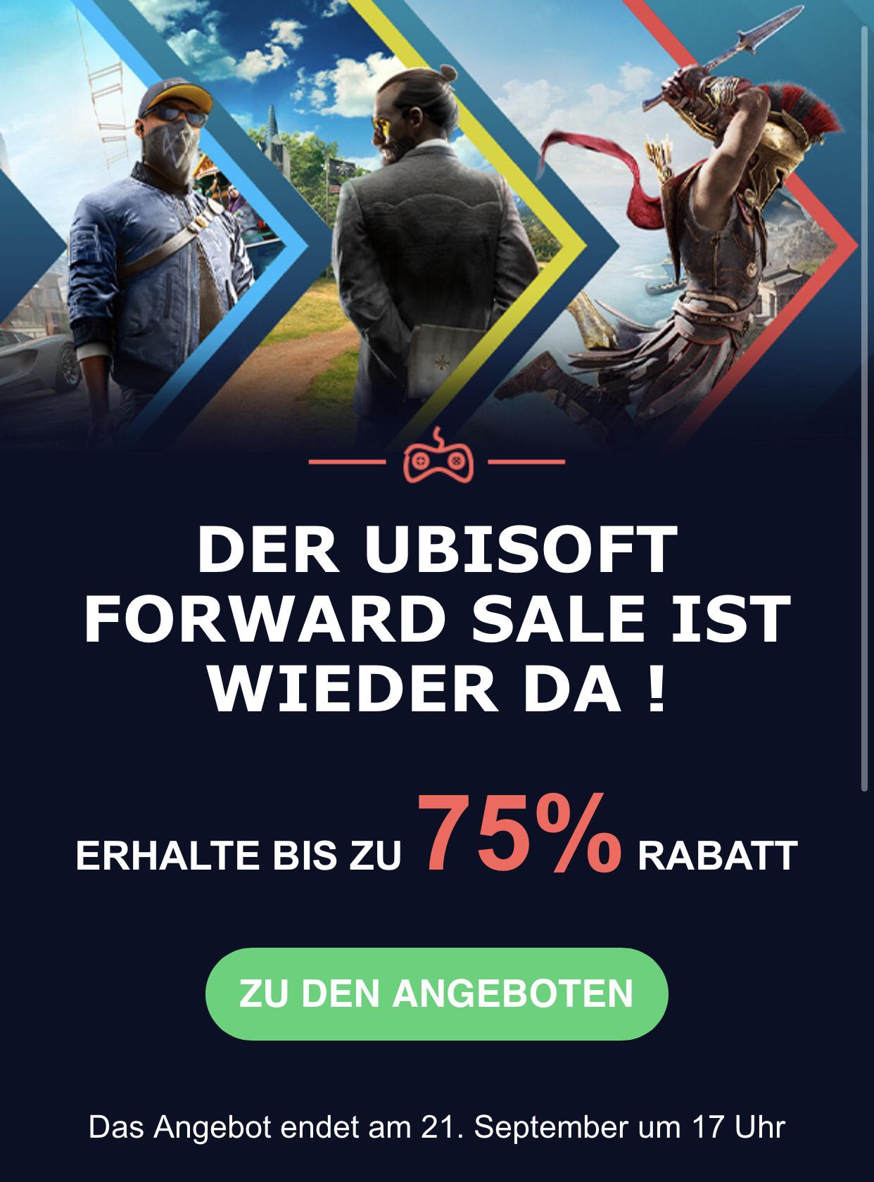 Uplay / Ubisoft Forward Sale Far Cry, Anno uvm. z.B. Assassins Creed Origins 9,60€