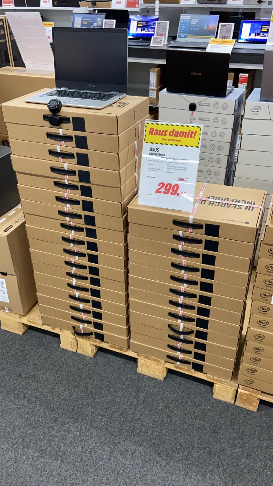 Asus Chromebook C423 Pentium N4200/4GB/64GB 14 Zoll mit Full-HD für 299€ im Media Markt in Weiterstadt.