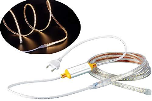 Ogeled 15M Led Strip 60 LEDs je meter Slim Led-Strifen wasserfest Dimmbar 230V (Warmweiß)