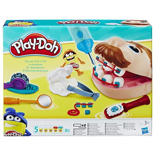 Hasbro Play-Doh - Dr. Wackelzahn, für fantasievolles & kreatives Spielen inkl. fünf Dosen Knete für 10,51€ (Amazon Prime)