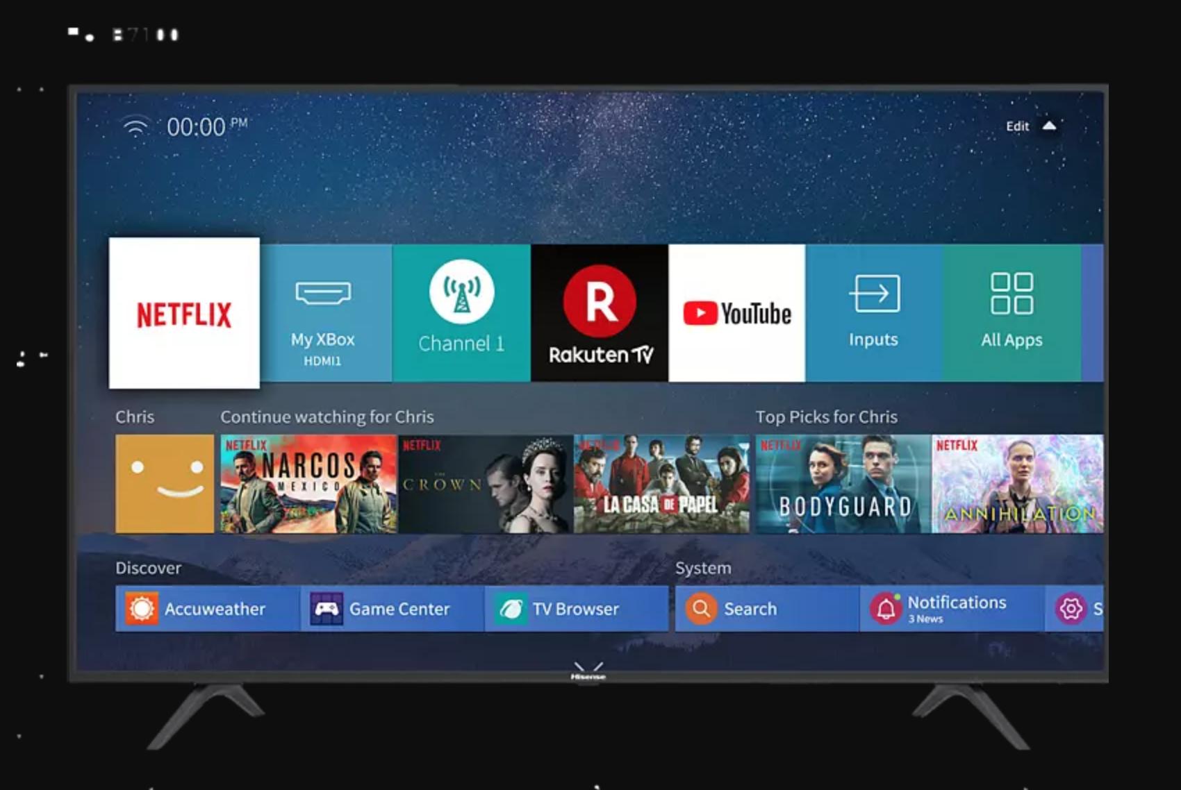 HISENSE H 65 B 7100 LED TV 65 Zoll 164 cm UHD 4K SMART TV