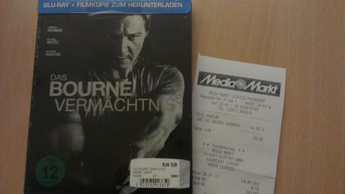 [Lokal Leipzig] Das Bourne Vermächtnis (Blu-ray Steelbook) @ MM Leipzig-Paunsdorf