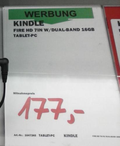 [offline][lokal] Kindle Fire HD - 16 Gbyte für 177 € @Mediamarkt Dietzenbach