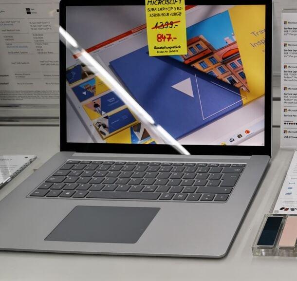 [Lokal Ludwigshafen Saturn] HiEnd-Laptop-Sammeldeal, zB. Microsoft Surface Pro X für 797€