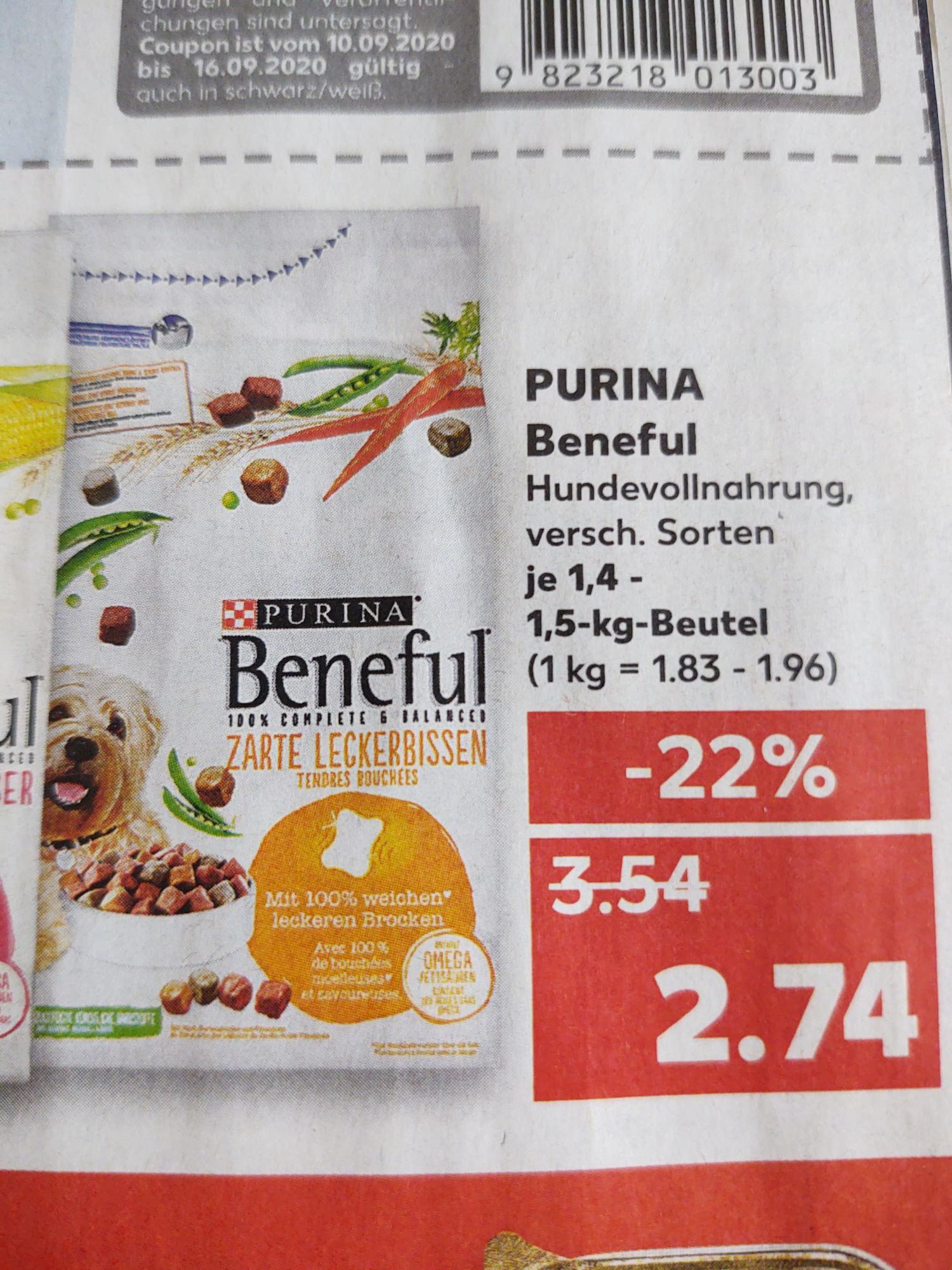 [LOKAL OBERHAUSEN] Beneful Trockenfutter 1,4 / 1,5 kg *Bestpreis*