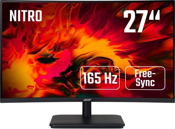"Acer ED270RPbiipx 27"" Curved Gaming Monitor (165Hz, ZeroFrame, AMD FreeSync, adaptive Sync, FHD, VA, HDMI, DisplayPort, VESA)"