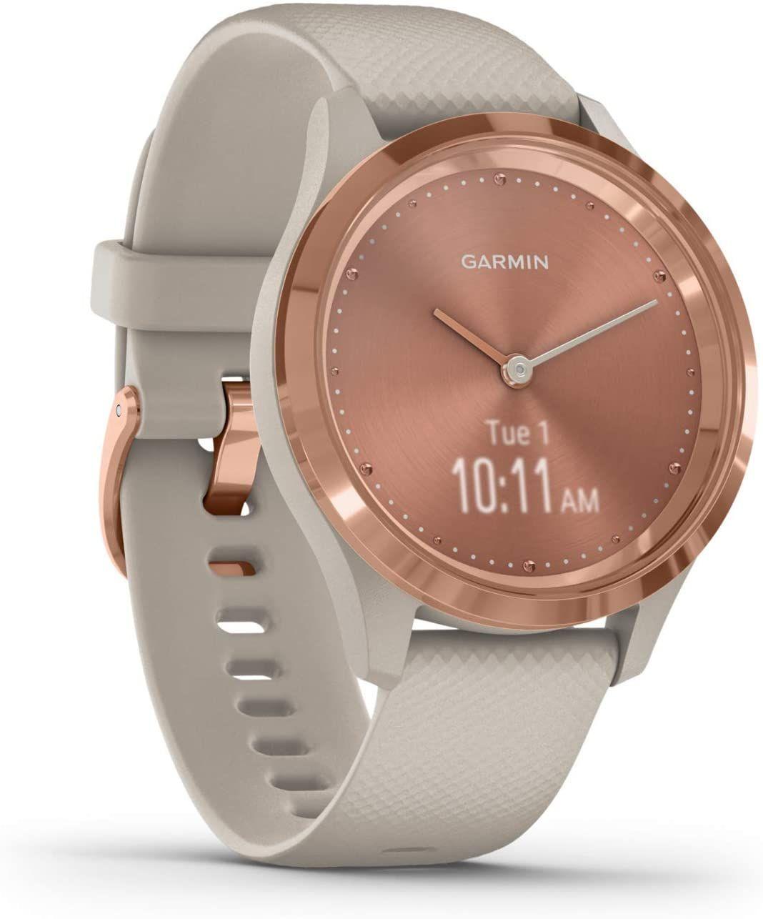 GARMIN Vivomove 3S Sport Smartwatch Polymer Silikon, k.A., Beige/Rosegold [Saturn & Mediamarkt & Amazon]