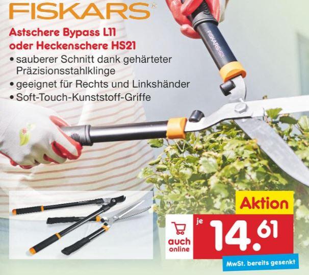 [Netto Marken-Discount] Fiskars Heckenschere HS21