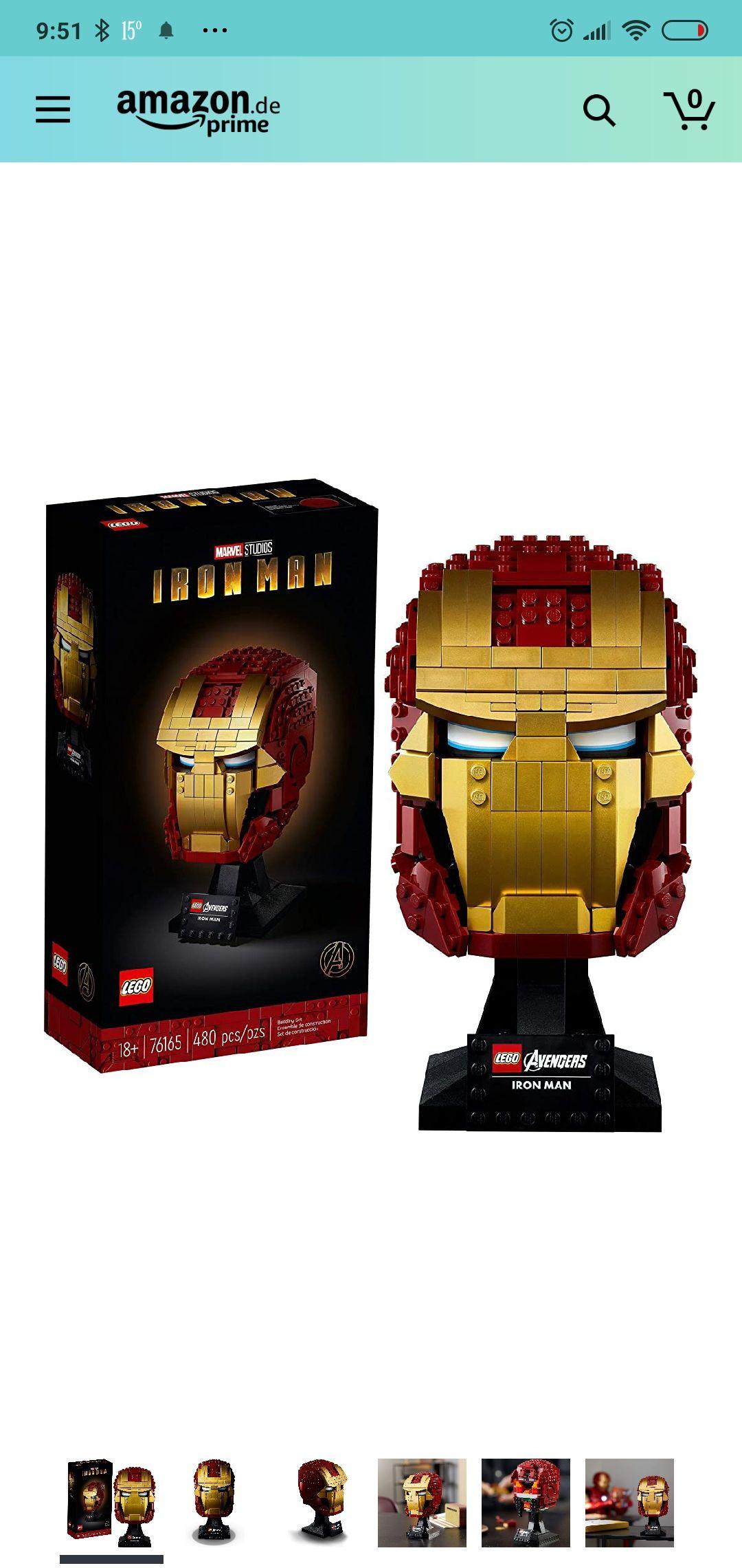 (amazon.de) LEGO 76165 Marvel Avengers – Iron Mans Helm
