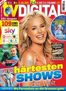 TV Digital XXL Abo (26 Ausgaben + 2 Gratismonate = 4 Ausgaben ) für 57 € mit 55 € BestChoice-Gutschein/ 50€ Amazon / 60 € Otto Gutschein