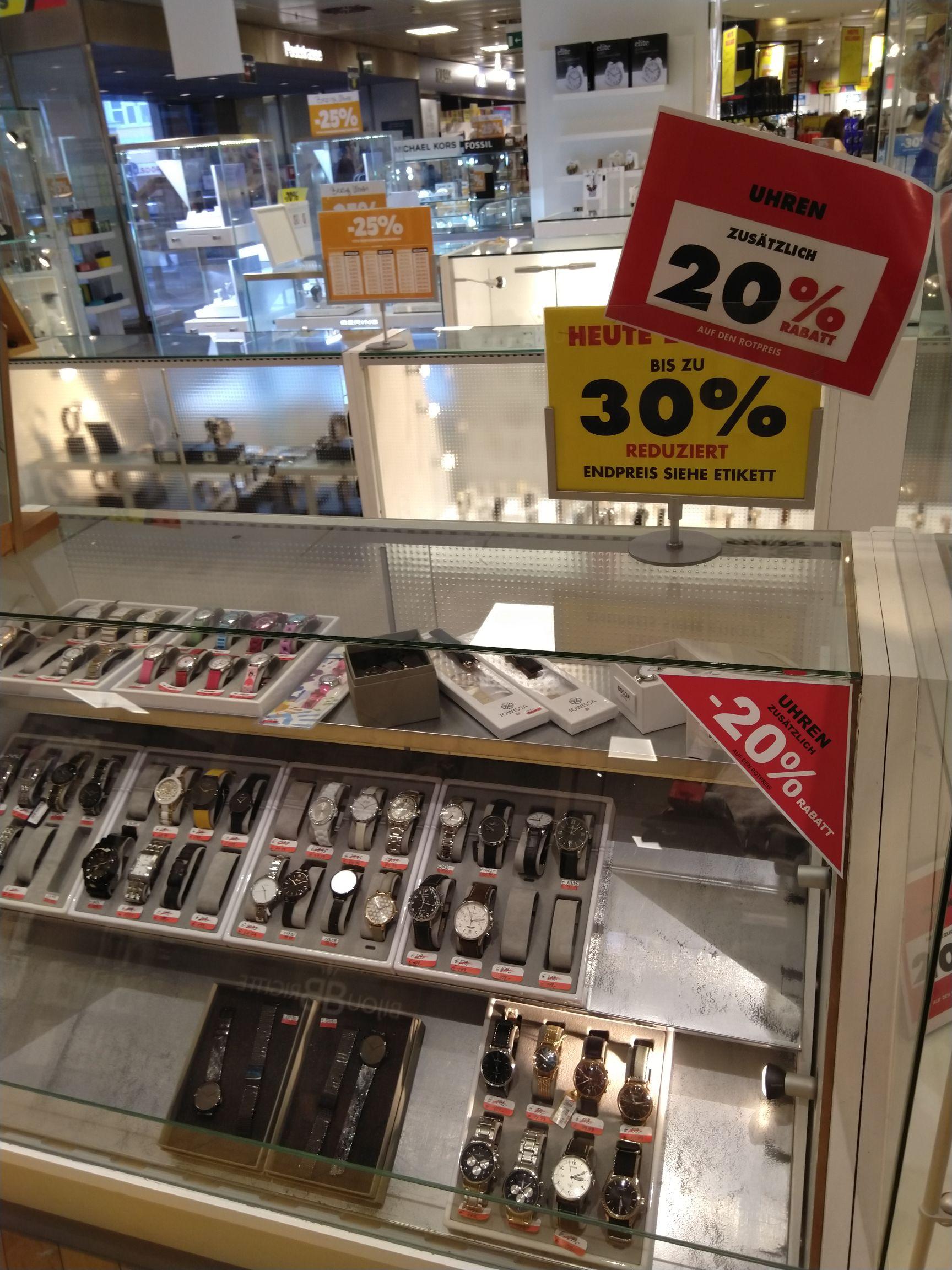 [lokal Bonn] Karstadt 20%-50% auf alles außer Eigenmarken. Ausverkauf wegen Schließung der Filiale