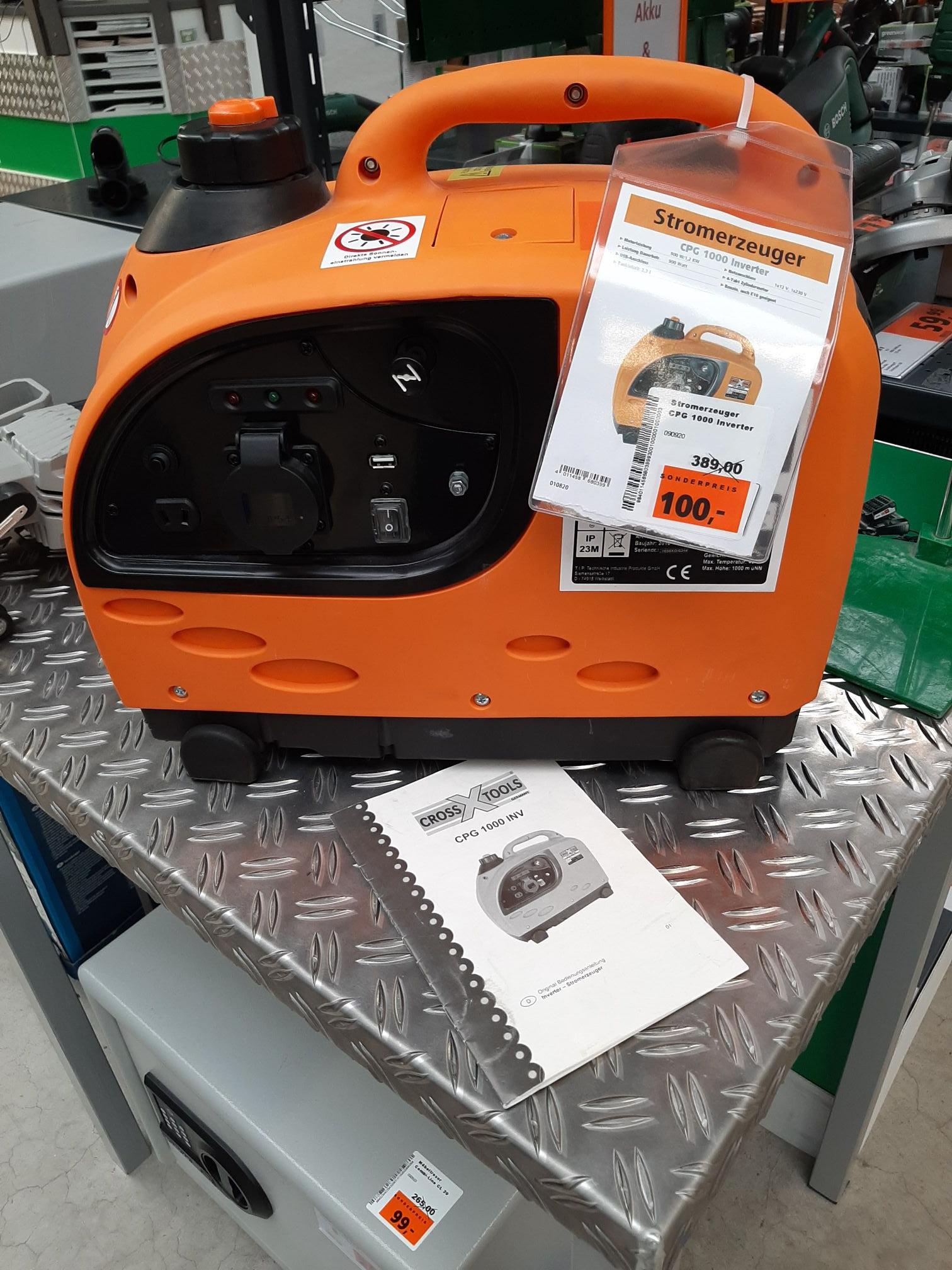 Cross Tools 68039 Inverter-Stromerzeuger Generator CPG 1000 INV (Lokal Globus-Baumarkt Marl)