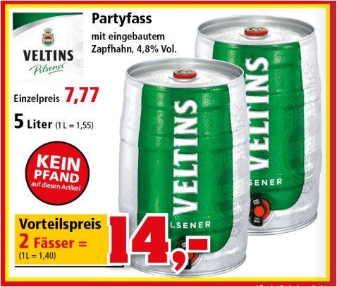 2 Fässer Veltins Bier für 14 Euro [Thomas Philipps]