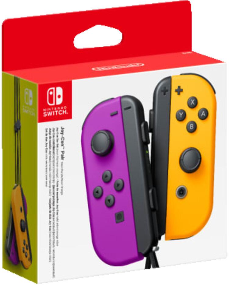 NINTENDO Switch Joy-Con 2er-Set Controller Neon-Lila/Neon-Orange für 57,18€ inkl. Versandkosten