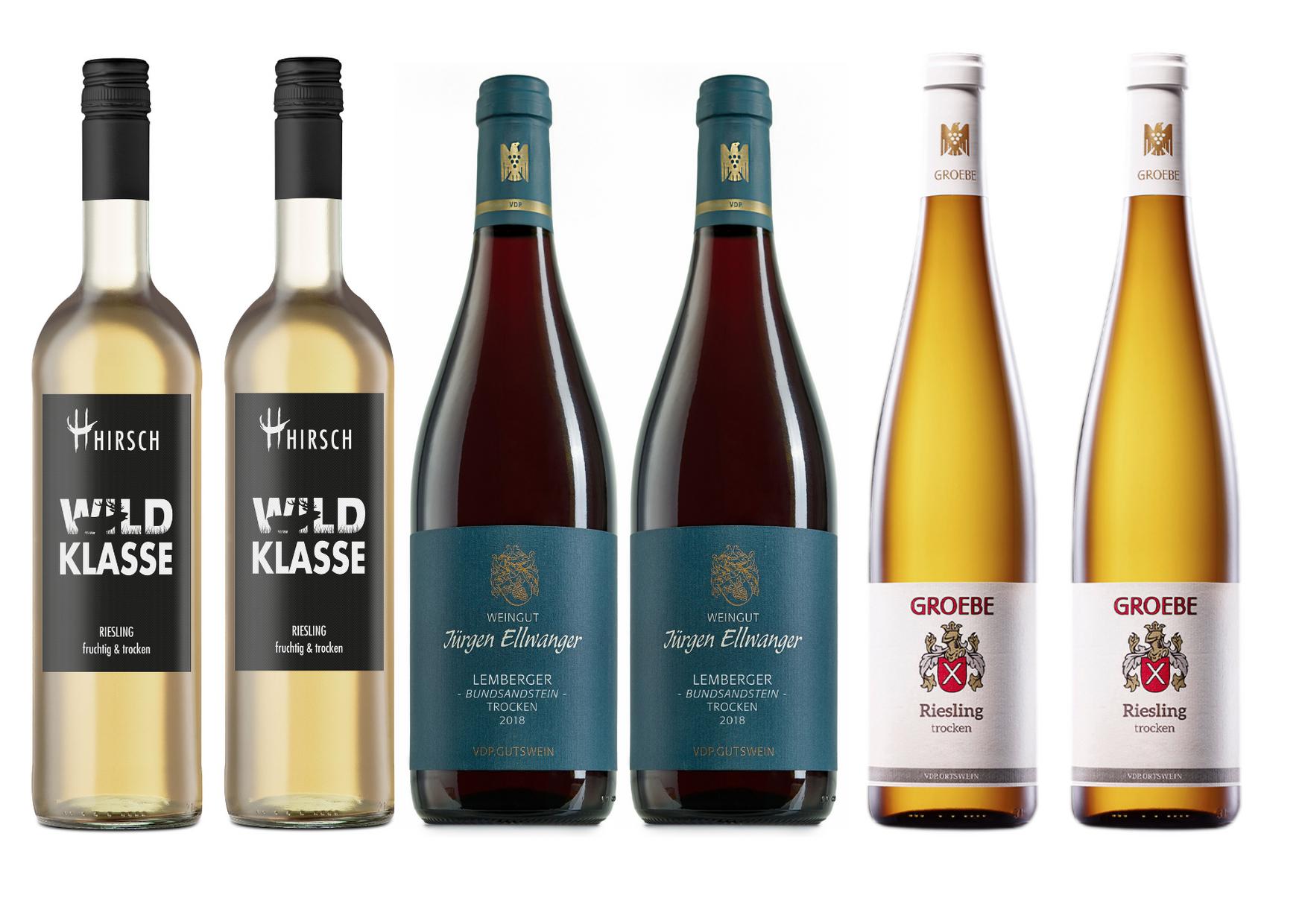 2018 Winzerbox bestehend aus 6 ausgewählten trockenen Weinen (4x Weiß, 2x Rot) aus eigenem Anbau (2018)