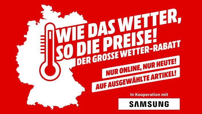 Wetter-Rabatt auf Samsung-Produkte: 24% auf Galaxy A21s, A41, A71, S20, S20 Ultra 5G, Z Flip, GQ65Q70T & GQ75Q950R
