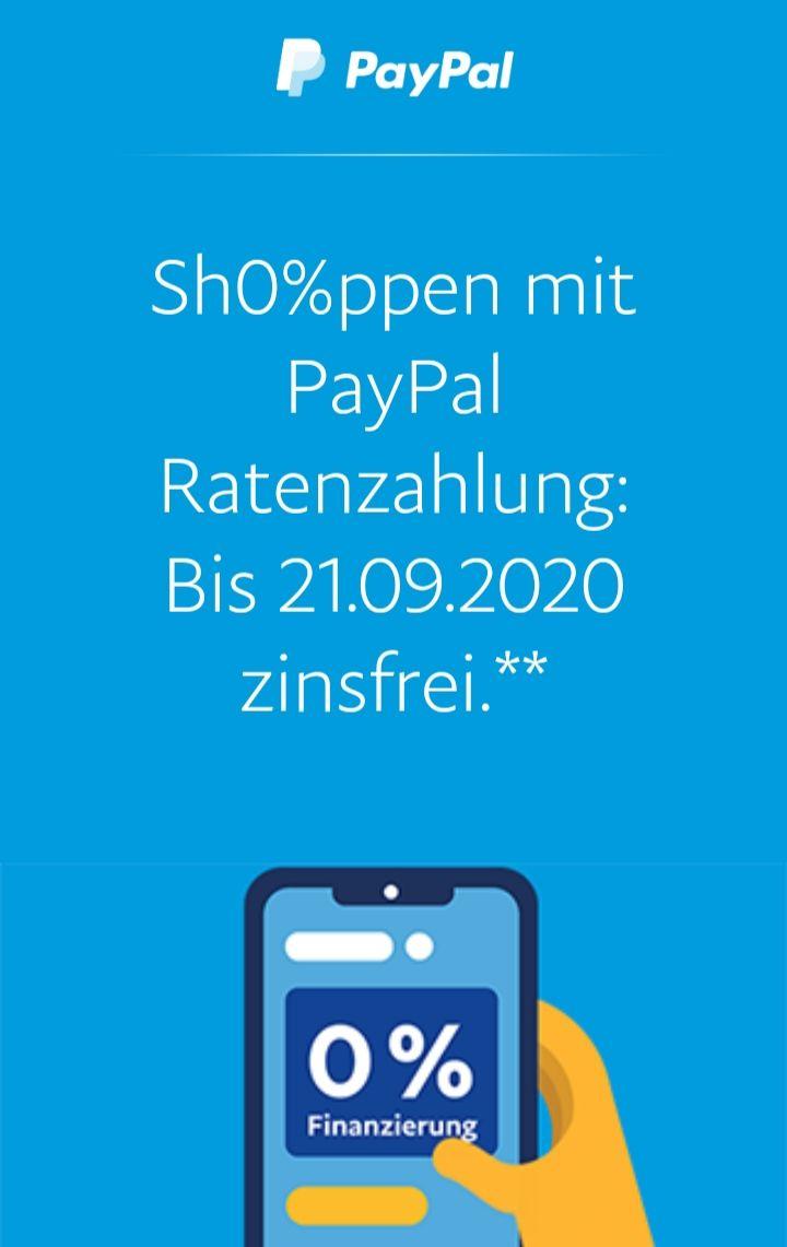 0% Finanzierung über PayPal auf Rakuten.de
