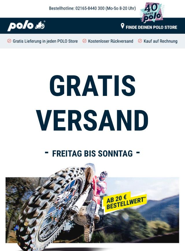 POLO Motorrad - Gratis Versand ab 20,- Bestellwert Freitag bis Sonntag