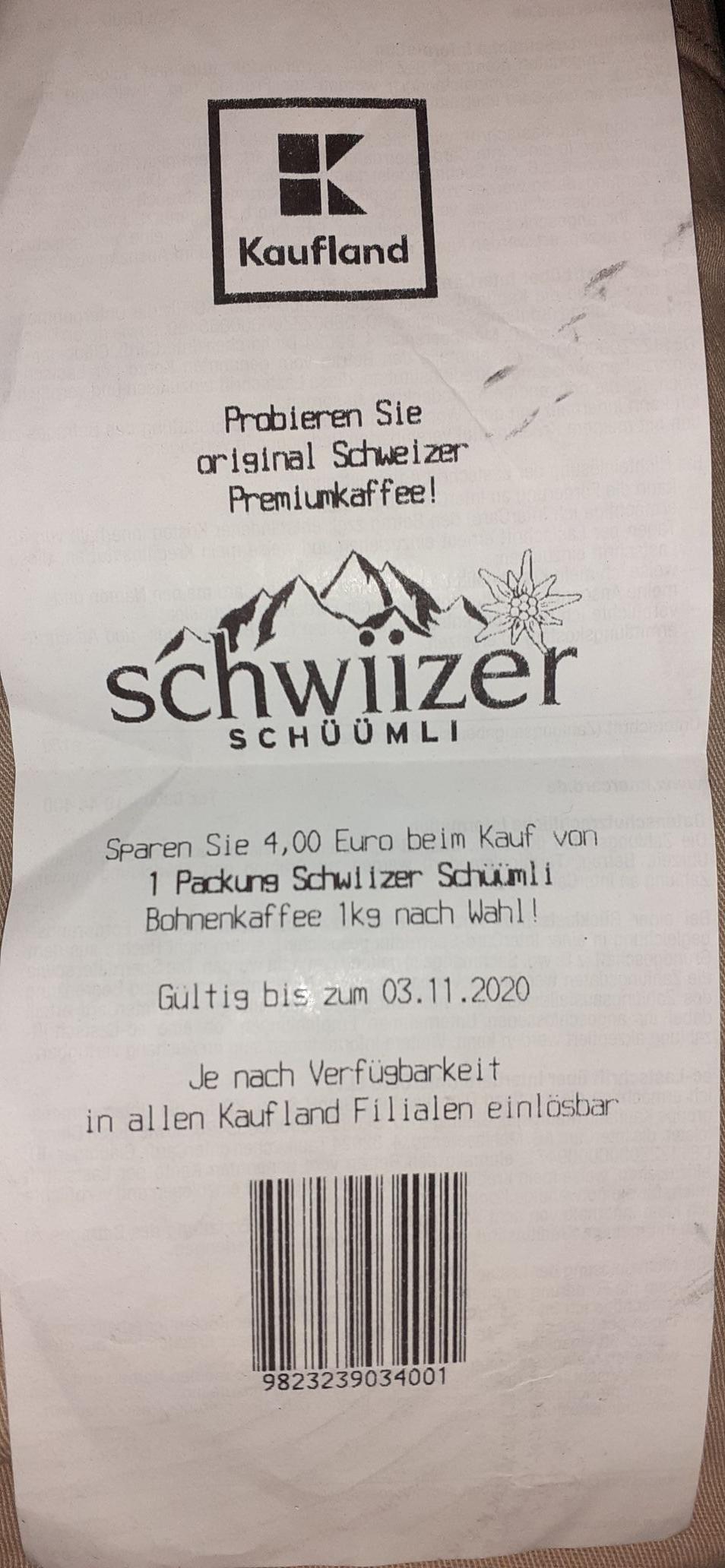 Schwiizer Schüümli 1kg nach Wahl in allen kaufland Filialen