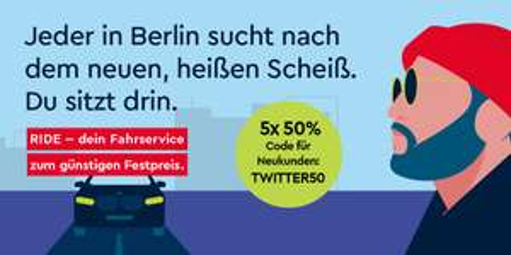 [Lokal BERLIN NEUKUNDEN] 5x 50% Rabatt auf FREE NOW-Ride-Fahrten