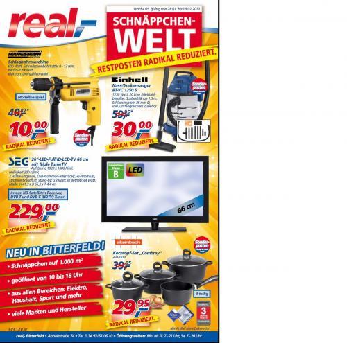 Real Schnäppchenwelt Bitterfeld Werbung KW 5
