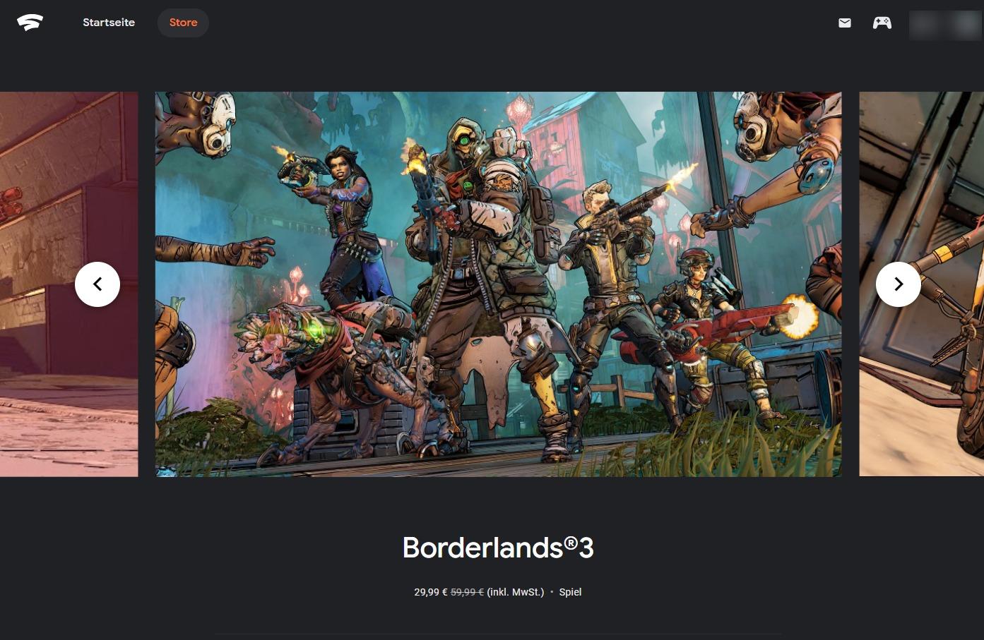 Borderlands 3 50% auf alle Editions (Stadia)