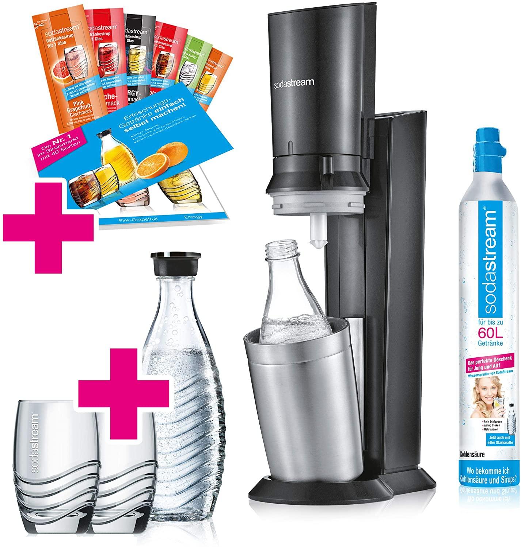 SodaStream Crystal 2.0 Wassersprudler-Set Promopack