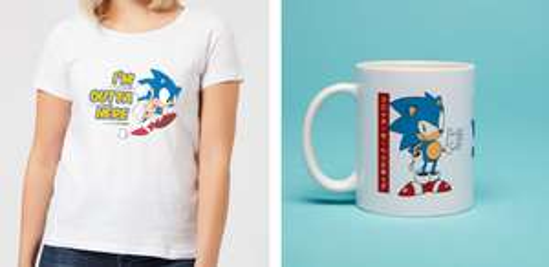 Sonic Bundle bestehend aus Tasse und T-Shirt (Gr. S - XXL) für 11,48€
