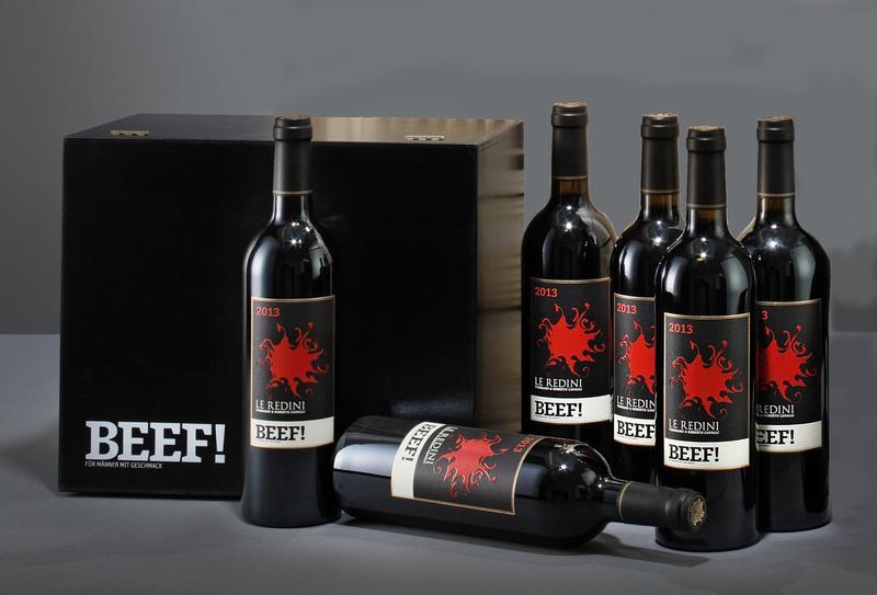 6 Flaschen 2013er Le Redini IGT Tenuta degli Dei Rotwein inklusive Holz-Geschenkbox für 54,99€