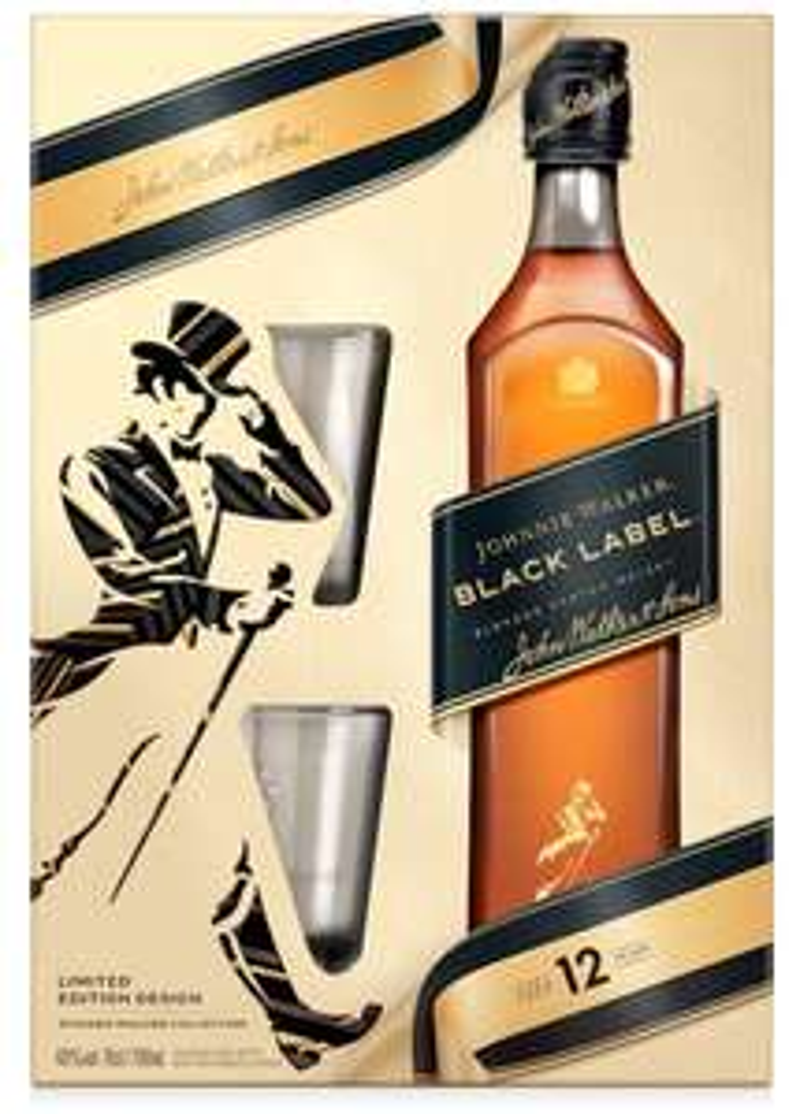 JOHNNIE WALKER Black Label Limited Edition mit 2 Whisky Gläsern KAUFLAND