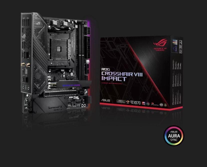 ASUS ROG Crosshair VIII Impact +40€ CASHBACK (X570 Mainboard, AMD AM4, Mini-DTX, PCIe 4.0)