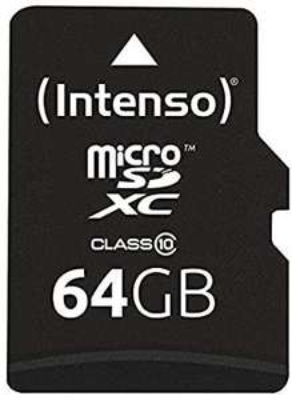 Intenso Micro SDXC 64GB Class 10 Speicherkarte inkl. SD-Adapter | Prime