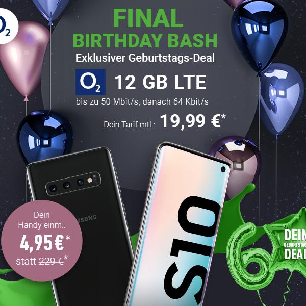 Samsung Galaxy S10 für 4,95€ Zuzahlung mit o2 Blue All-In M (12GB LTE) für 19,99€ / Monat (eff. 3€ / Monat nach HW-Verkauf)