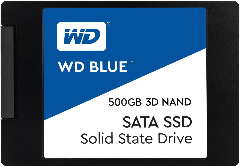 """Preisfehler? WD Blue 3D 500GB SSD (2.5"""", 3D-NAND-TLC, 560MB/s lesen, 530MB/s schreiben) für 32,77€ [MediaMarkt]"""