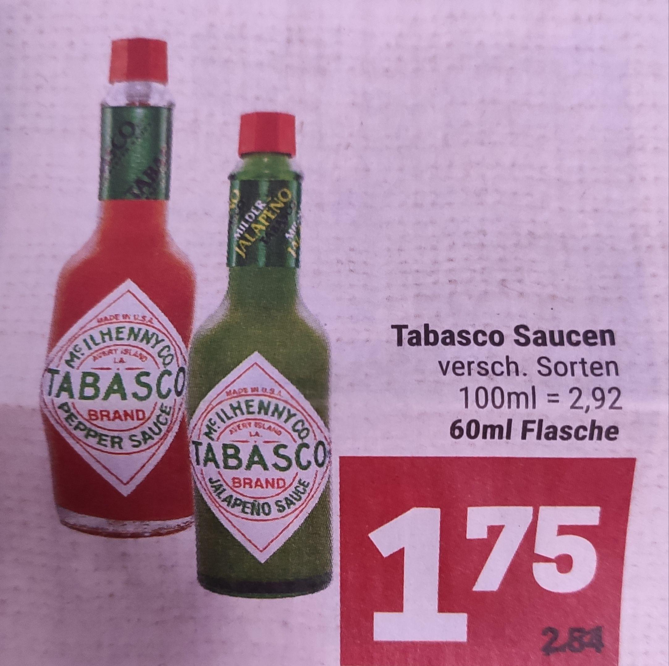 [Marktkauf Minden-Hannover] Tabasco Saucen verschiedene Sorten mit 10% Coupons für 1,57€