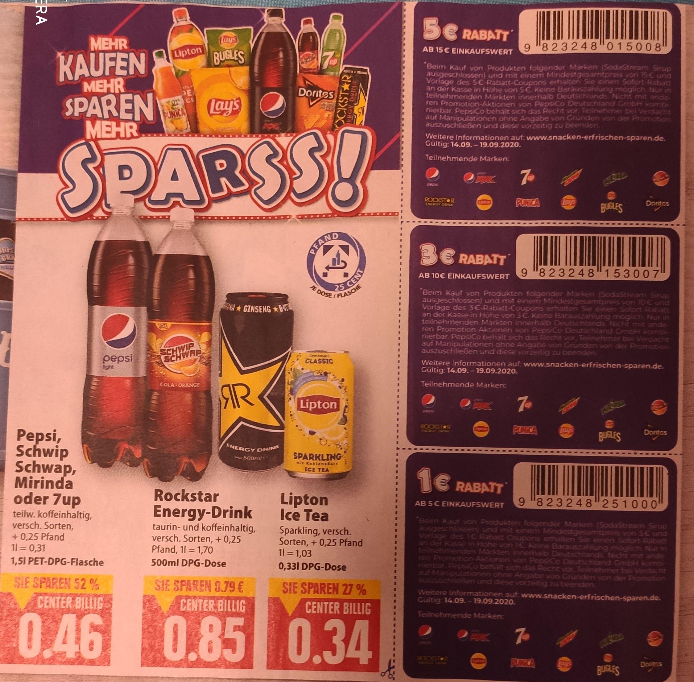 [Edeka (Center) Minden-Hannover] 45x Lipton Sparkling Dose mit Prospektcoupon für 10,30€ (Stückpreis = 0,22€) und weitere Kombinationen